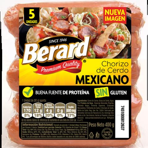 BERARD CHORIZO MEXICANO 400G