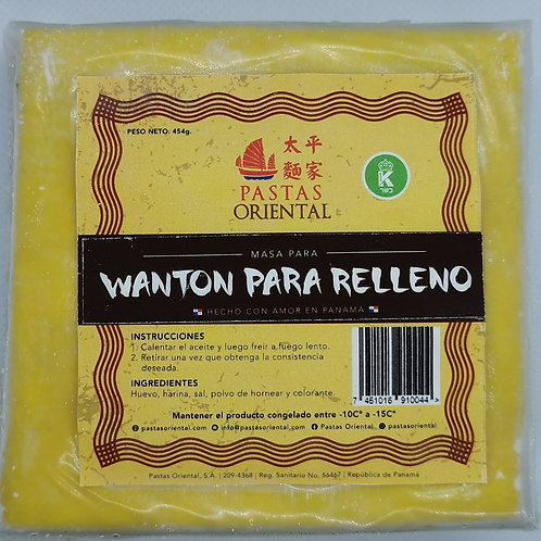 PASTAS ORIENTAL WANTON PARA RELLENO 454G