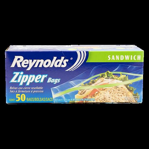 REYNOLDS ZIPPER BAGS SANDWICH