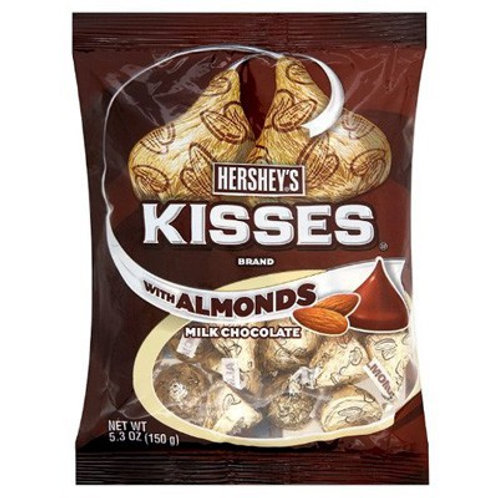 HERSHEYS KISSES WITH ALMONDS 5.3OZ