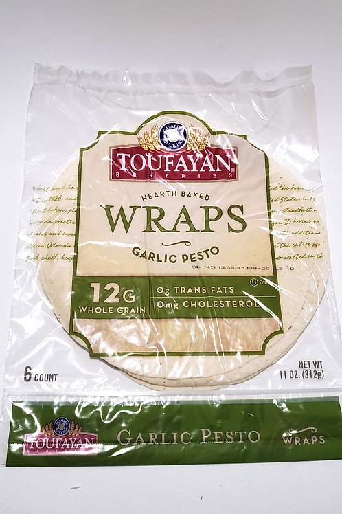 TOUFAYAN GARLIC PESTO WRAPS 312G