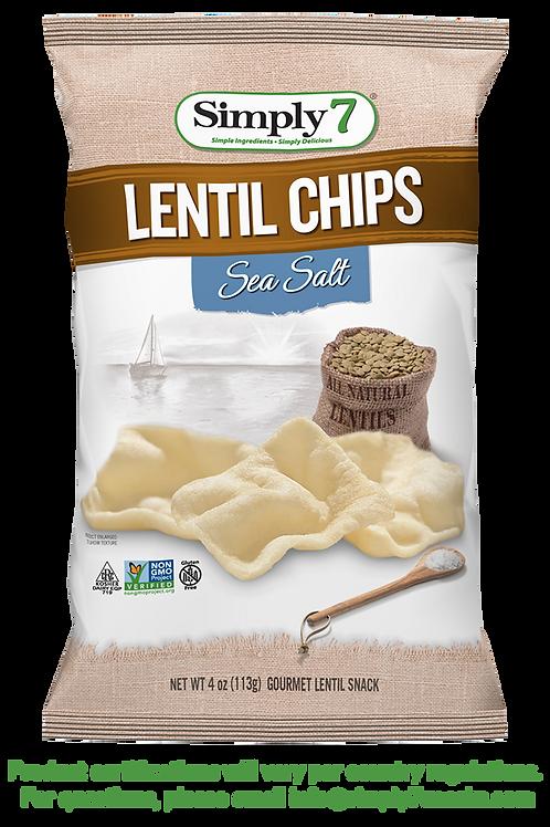 SIMPLY 7 Lentil Chips Sea Salt 142g