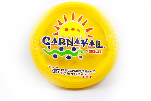 SOLO CARNAVAL GREEN/YELLOW PLATE 9INCH
