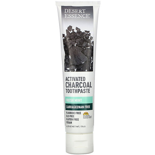 DESERT ESSENCE ACTIVATED CHARCOAL MINT TOOTHP