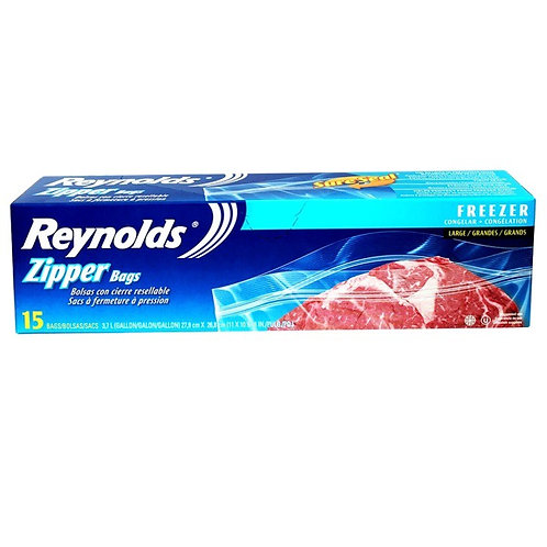 REYNOLDS ZIPPER BAGS FREEZER