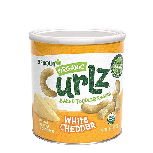 Sprout Organic Curlz White Cheddar 42g