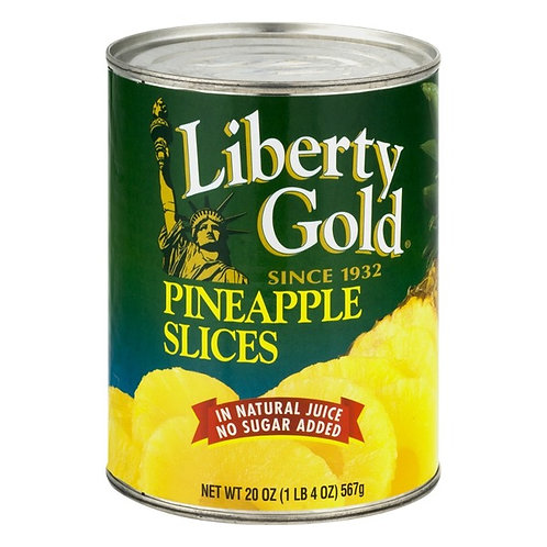LIBERTY GOLD PINEAPPLE SLICES 567G