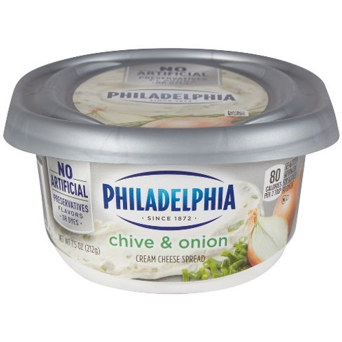 PHILADELPHIA CREAM CHEESE WITH CHIVE & ONION