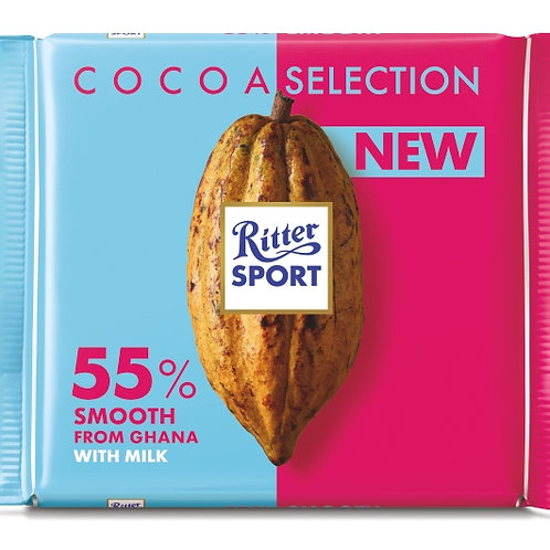 RITTER COCOA SELECTION SMOOTH 55%