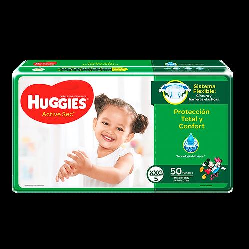 HUGGIES ACTIVE SEC XXG 5