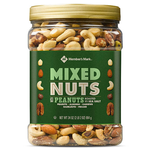 MEMBERS MARK MIXED NUTS WITH PEANUTS 964G