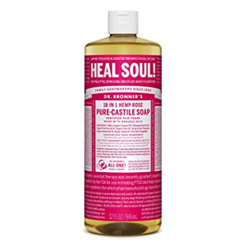 DR. BRONNERS ROSE LIQUID SOAP