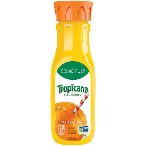 TROPICANA ORANGE JUICE SOME PULP 355ML