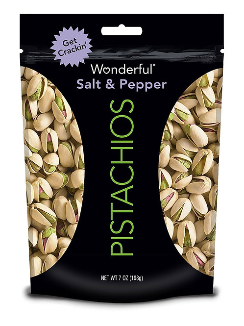 WONDERFUL PISTACHIOS SALT & PEPPER L
