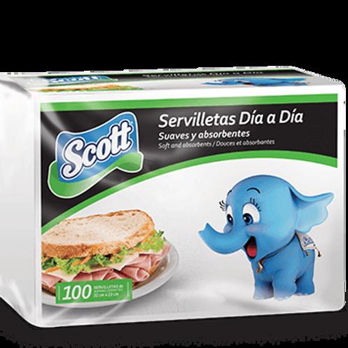 SCOTT SERVILLETAS DIA A DIA 32CM 100U