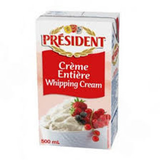 PRESIDENT WHIPPING CREAM 500ML