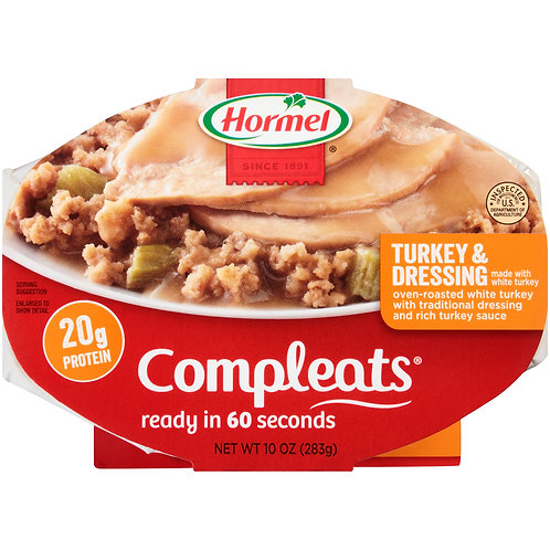 HORMEL TURKEY & DRESSING COMPLEATS 283G
