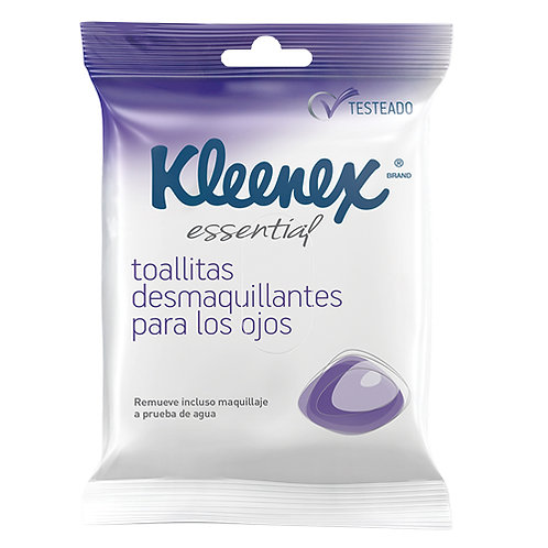 KLEENEX DESMAQUILLANTES PARA OJOS