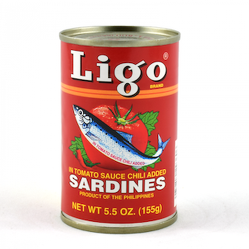 LIGO SARDINES IN TOMATO HOT 155G