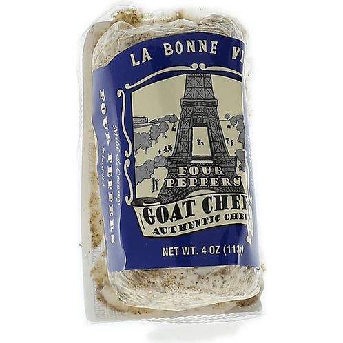 LA BONNE VIE FOUR PEPPERS GOAT CHEESE 4OZ