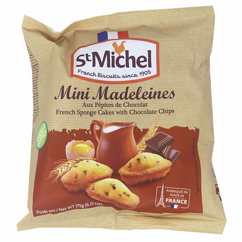 ST MICHEL MINI MADELEINES WITH CHOCOLATE CHIP