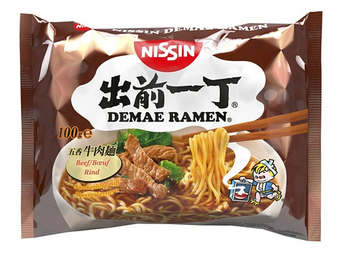 NISSIN INSTANT NOODLE BEEF 100G
