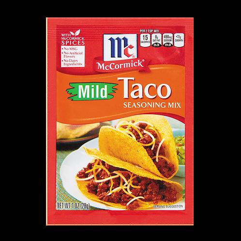 MCCORMICK MILD TACO SEASONING MIX 28G