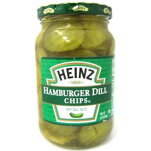 HEINZ PICKLES HAMBURGER DILL CHIPS