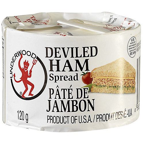 UNDERWOOD DEVILED HAM SPREAD 120G