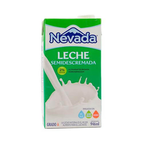 NEVADA LECHE SEMIDESCREMADA 2% GRASA 946ML