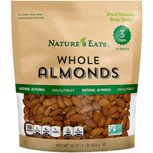 NATURES EATS WHOLE ALMONDS