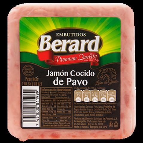 BERARD JAMON COCIDO DE PAVO 170.25G