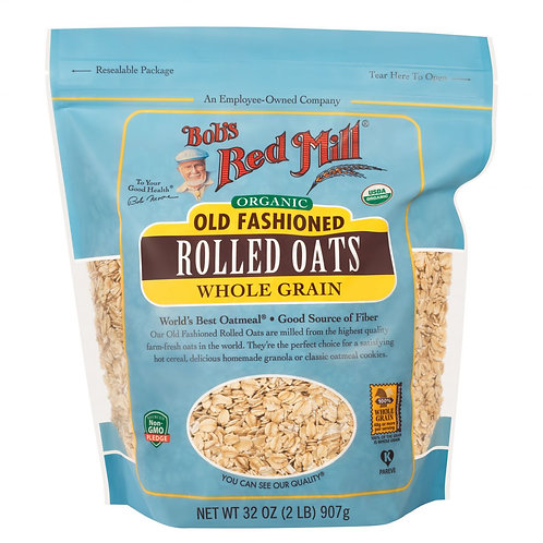 BOBS RED MILL ORGANIC ROLLED OATS 907G