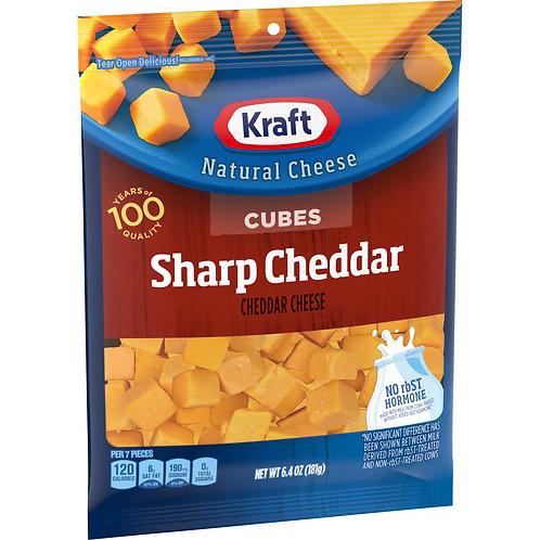 KRAFT SHARP CHEDDAR CHEESE CUBES 181G