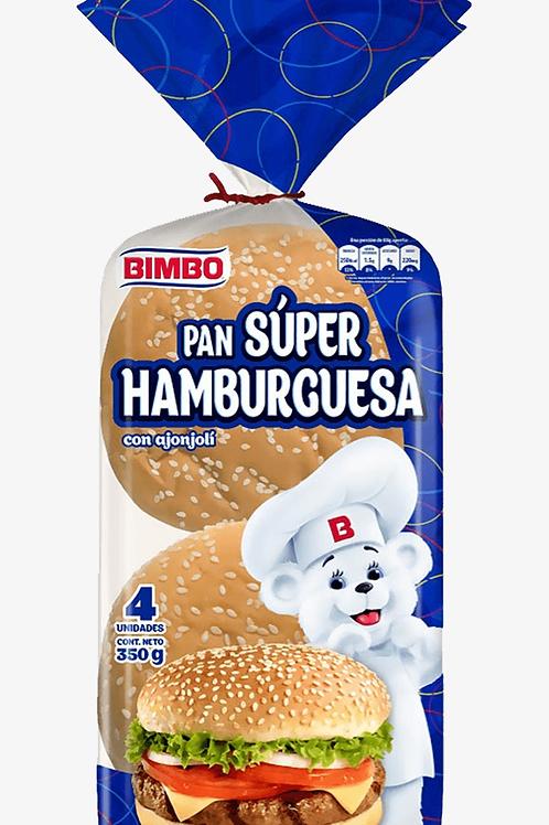 Bimbo Pan Hamburguesa con Ajonjoli 350g