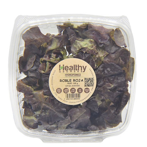 HEALTHY GROWERS LECHUGA ROBLE ROJA 100G