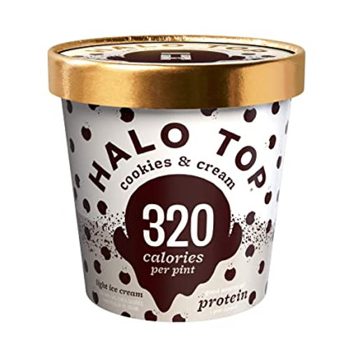 HALO TOP COOKIES AND CREAM 473ML