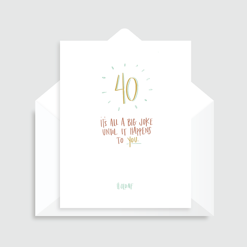 WHL - 40 JOKE BIRTHDAY