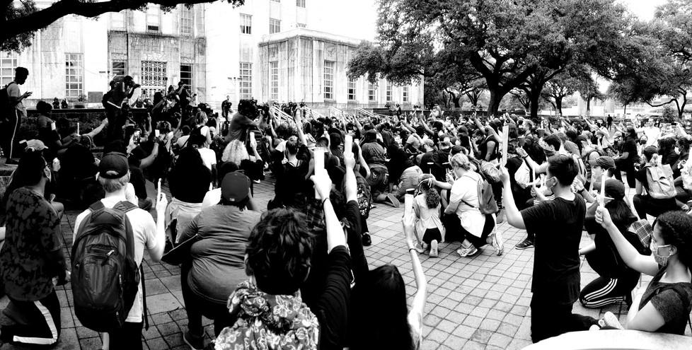 Justice For George Floyd vigil in Houston