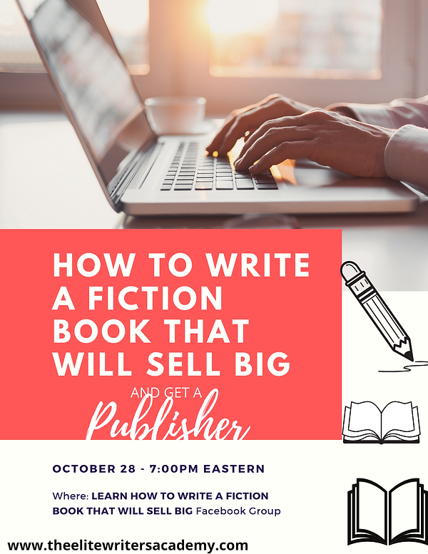 HOW TO WRITE A FICTION BOOK THAT WILL SE