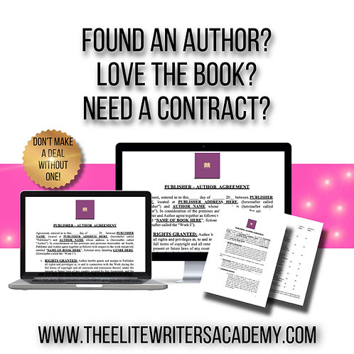 PUBLISHER AUTHOR CONTRACT