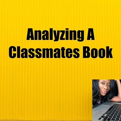 Analyzing A Classmates Book
