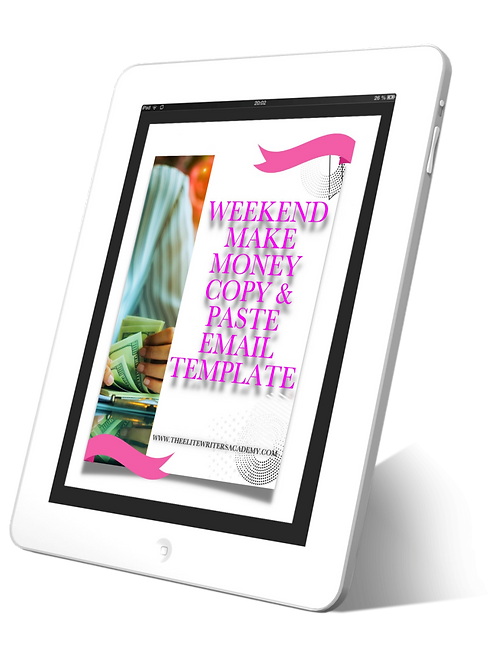 Weekend Make Money Copy & Paste Email Template