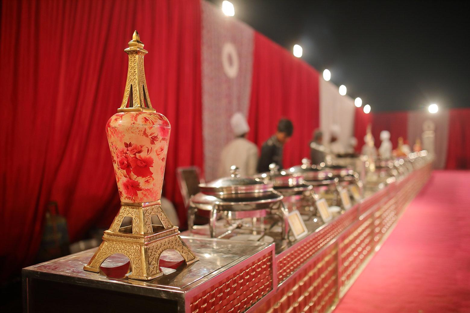 Indian Wedding. Banquet setup, Wedding D