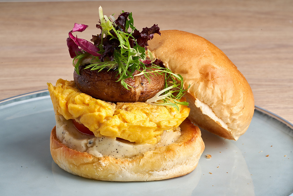 藍起司松露洋芋泥蕈菇漢堡 | 蔬軾 創意蔬食料理