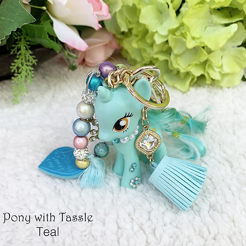 Pony with Tassel Charm