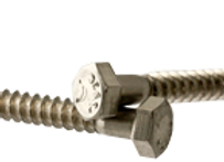"3/8""-7x4"" HEX LAG SCREWS STAIN A2 (18-8)"