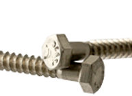 "3/8""-7x6"" HEX LAG SCREWS STAIN A2 (18-8)"