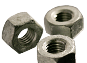 "1/2""-13 HEAVY HOT DIP GALVANIZED HEX NUTS A194 / SA 194 2H"