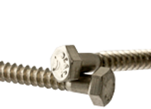 "3/8""-7x2 1/2"" HEX LAG SCREWS STAIN A2 (18-8)"